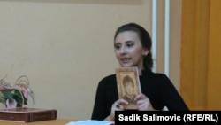 Belma Malagić na promociji knjige, 2014.