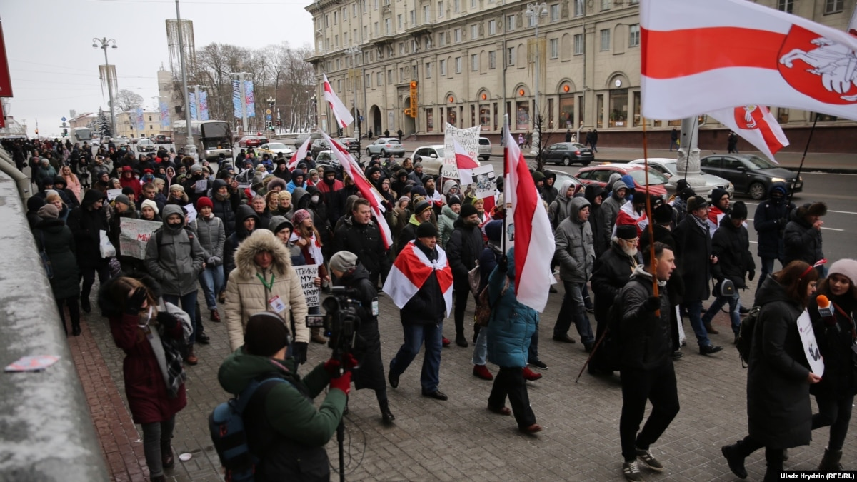 В Минске в пятый раз митинговали против «углубления интеграции» с Россией