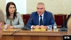 Веселин Марешки по време на срещата с ГЕРБ.