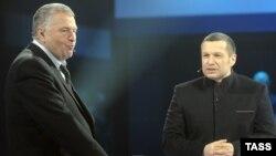 Латвийский регулирующий орган не оценил идеи Владимира Жириновского и Владимира Соловьева.