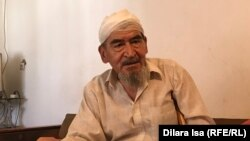 Жұмабек Қалымбетов, Арыста жарылыс кезінде жарақат алған қария. Түркістан облысы, Арыс қаласы, 18 шілде 2019 жыл.