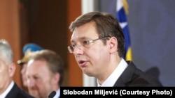Александр Вучич на пресс-конференции в Белграде, 22 июля 2015