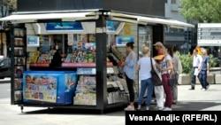 Štampa na ulicama Beograda, ilustracija