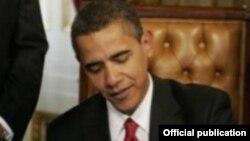 АҚШ президенті Барак Обама. 13 тамыз 2011 жыл.