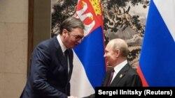 Susrete predsednika Srbije Aleksandra Vučića i predsednika Rusije Vladimira Putina u Pekingu