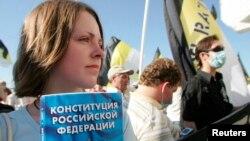 Samarada antihökumət aksiyası (Foto arxivdəndir)