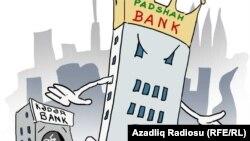 Padşah Bank. Karikatura