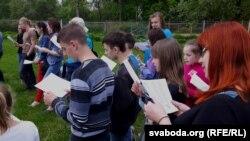 Удзельнікі «Сьпеўнага сходу» — выхаванцы школы-інтэрнату