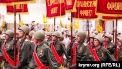 Военный парад в Севастополе, архивное фото