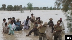 File photo of a flood rescue in Pakistan.