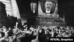 Коллаж, изображающий Дмитрия Киселева как персонажа антиутопии Джорджа Оруэлла «1984»