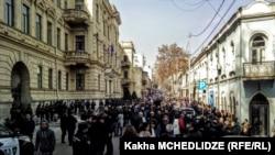 Акция протеста у здания Верховного суда Грузии в Тбилиси (архивное фото)