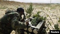 Ракетная установка ливийских повстанцев