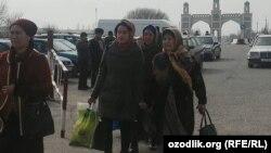 Ўзбек-тожик чегарасининг 27 февраль кунги манзараси.