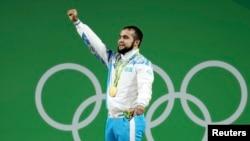 Нижат Рахимов Рио олимпиадасында алтын медаль алған сәт.