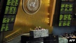 Pamje nga punimet e Asamblesë së Përgjithshme të Kombeve të Bashkuara