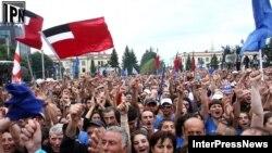 """Демонстрация сторонников """"Грузинской мечты"""" в Зугдиди 22 сентября"""