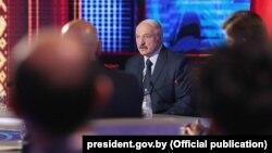 Аляксандар Лукашэнка на сустрэчы з кіраўнікамі дзяржаўных СМІ