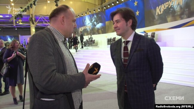 Журналист Сергей Андрушко и министр культуры Евгений Нищук