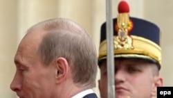 Preşedintele Vladimir Putin la summitul NATO, Bucureşti, 2008
