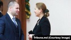 Victoria Iftodi cu Vladimir Cebotari, minsitrul justiției