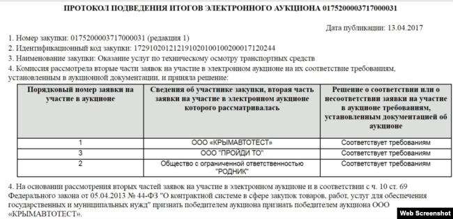 Симферопольское ООО «Крымавтотест» оказывает услуги по техосмотру автомобилей крымского парламента