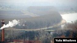Podul peste Nistru, vedere din dealul s. Vadul lui Vodă