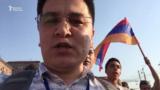 Али Токтакунов Еревандагы митинг учурунда