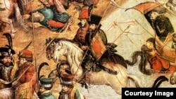 Польские гусары во время Оршанской битвы. Неизвестный художник, XVI век