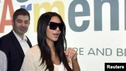 Kim Kardashian në Jerevan të Armenisë.