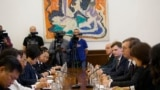 Delegation of Serbia led by a president Aleksandar Vucic and Chinese Politburo led by Yang Xiaodu meeting in Belgrade