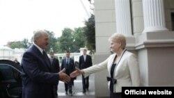 Аляксандар Лукашэнка і Даля Грыбаўскайце, Вільня 16 верасьня 2009 году