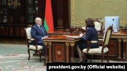 Аляксандар Лукашэнка насустрэчы састаршынёй Савету Рэспублікі Натальляй Качанавай 31сакавіка