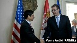 U.S. Deputy Assistant Secretary of State Hoyt Brian Yee meets Serbian Prime Minister of Serbia Aleksandar Vucic in Belgrade