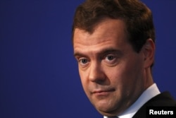 Președintele Dmitri Medvedev în mai 2011