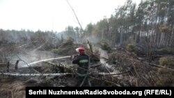 Гасіння пожеж у Житомирській області, 22 квітня