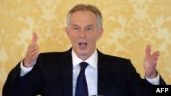 Бывший премьер-министр Великобритании Тони Блэр на пресс-конференции в Лондоне. 6 июля 2016 года.
