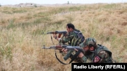 Afghan security forces fighting the Taliban in Kunduz.