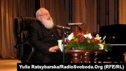 Колишній глава Української греко-католицької церкви Любомир Гузар в актовій залі Дніпропетровської консерваторії, 11 травня 2011