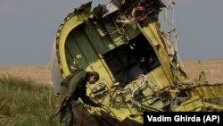 Обломки «Боинга» на месте крушения MH17, Донецкая область, 22 июля 2014 года