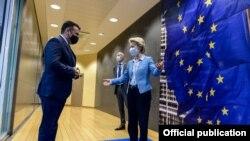 Брисел- средба на македонскиот премиер Зоран Заев и претседателката на Европската комисија Урсула фон дер Лајен, 10.05.2021
