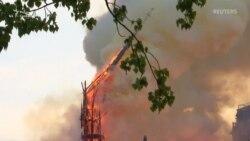 Шпиль собору Паризької Богоматері обвалився через пожежу (відео)