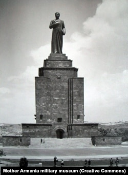 A 50-meter-high monument to Soviet dictator Josef Stalin that was unveiled in Yerevan in 1950. In 1961, the bronze Stalin was pulled down but the plinth remained.