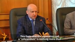 Acting President Blasts East Ukraine Referendums