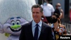 Калифорниянын губернатору Гэвин Ньюсом Лос-Анжелес шаарында. 15-июнь, 2021-жыл.