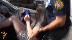 Yerevan meriyası qarşısında 7 nəfər saxlandı