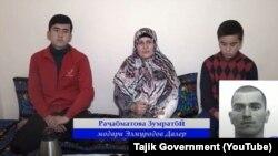 Фрагмент демонстрируемой госканалами видеозаписи, на которой родственники таджикских боевиков в Афганистане просят близких вернуться домой.