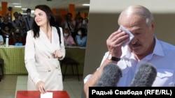 Сьвятлана Ціханоўская і Аляксандар Лукашэнка