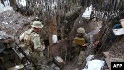 Украінскія вайскоўцы непадалёк ад Данецку