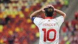 МАКЕДОНИЈА - Македонската фудбалска репрезентација загуби на натпреварот против Украина со 2:1, во раките на ЕП 2020. Голот за македонската репрезентација го даде Езѓан Алиоски во 55-тата минута од второто полувреме.